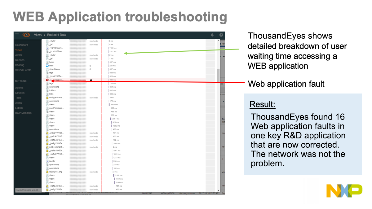 Web application troubleshooting